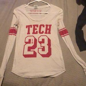 Pink Texas Tech long sleeve.